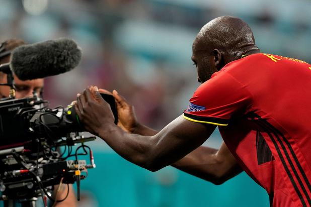 """Romelu Lukaku: """"C'était difficile de jouer, je dédie ma performance à Christian Eriksen"""""""