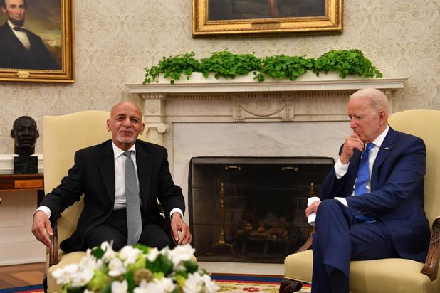 Biden belooft Afghanistan verdere steun na terugtrekking troepen