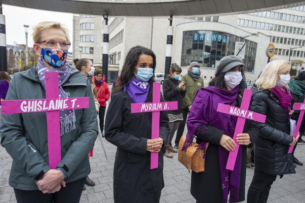 Manifestation à Bruxelles pour dénoncer les violences à l'encontre des femmes