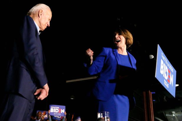 Buttigieg, Klobuchar en O'Rourke scharen zich achter Joe Biden