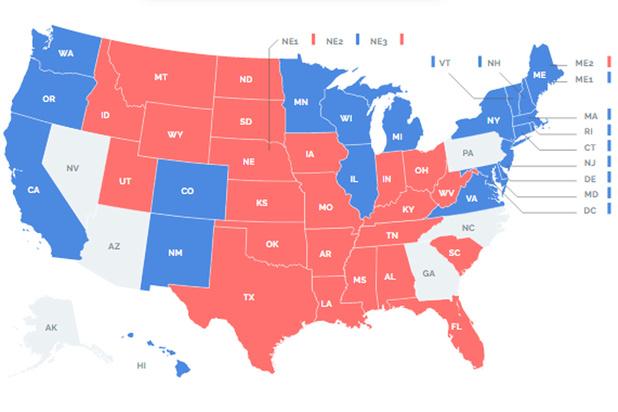 Carte interactive: suivez tous les résultats en direct