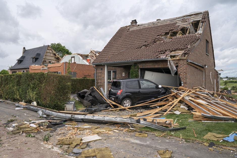 Importants dégâts après une tornade à Beauraing (photos)