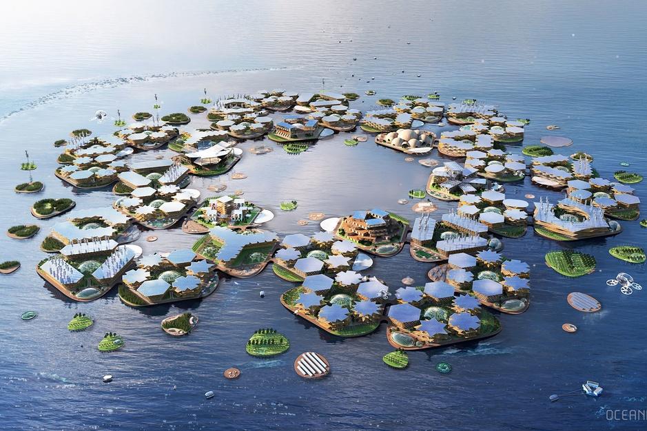 Oceanix, une ville flottante conçue pour accueillir les réfugiés climatiques (en images)