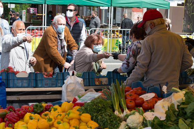 Liège rend le port du masque obligatoire sur le marché de la Batte, suivi Charleroi et Jumet