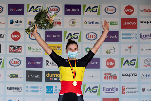 Premier titre de championne de Belgique pour Lotte Kopecky