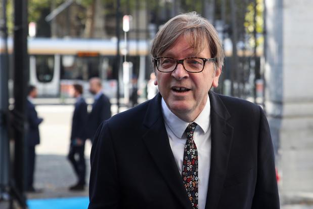 """Verhofstadt: """"Je déplore le Brexit, mais s'il doit malgré tout advenir, alors ceci est un accord équilibré"""""""