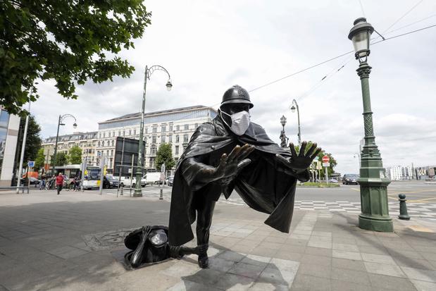 A Bruxelles, la police veillera au port du masque durant le week-end