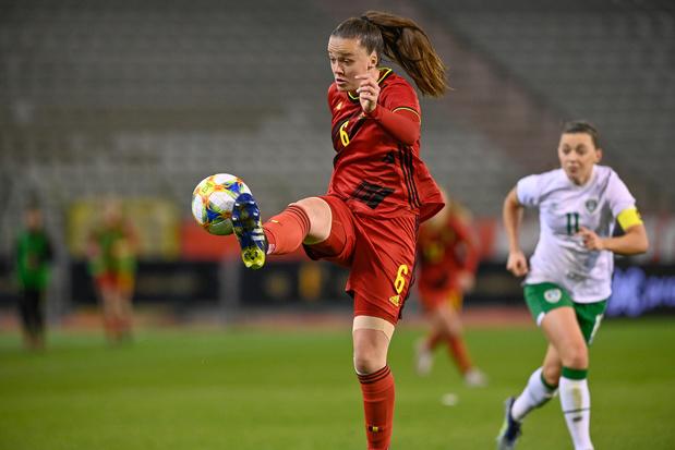 """Tine De Caigny (Red Flames): """"Notre objectif, c'est de finir premières du groupe"""""""