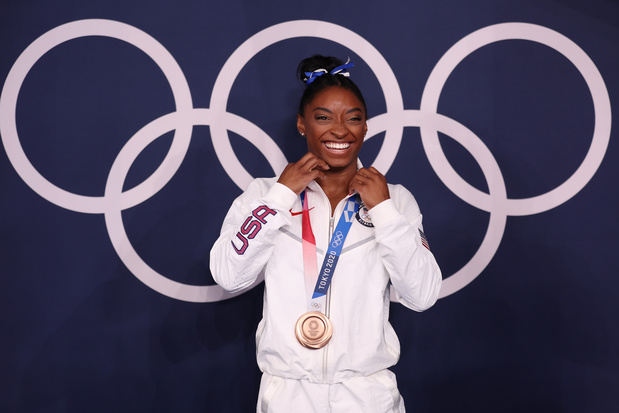 """Simone Biles, médaillée de bronze à la poutre: """"Je l'ai fait pour moi"""""""