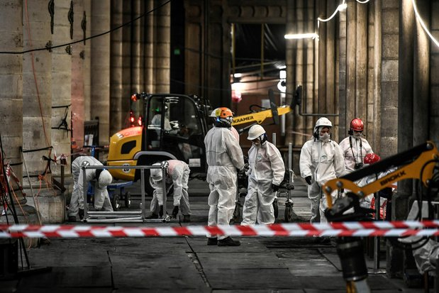 En images: Au coeur du chantier titanesque de la reconstruction de Notre-Dame, sous haute sécurité