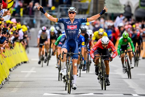 België boven in de Tour: Tim Merlier wint derde etappe
