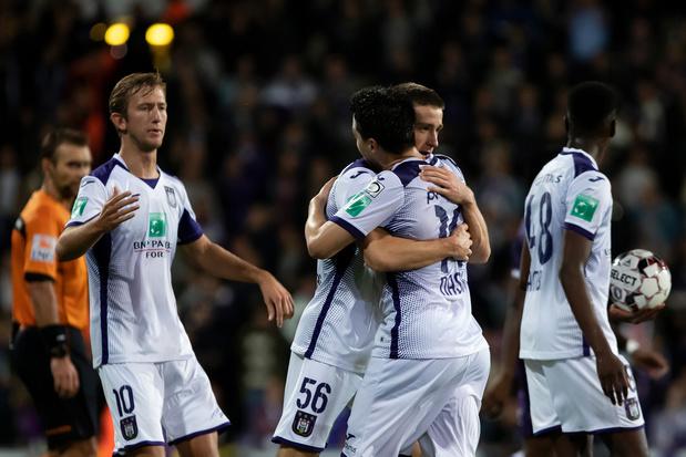 Anderlecht s'impose dans la douleur au Beerschot après un match fou: voici tous les résultats de la Coupe