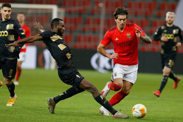 Europa League: Standard pakt puntje tegen Benfica, Gent en Antwerp verliezen