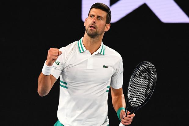Open d'Australie: Djokovic domine la douleur et bat Raonic