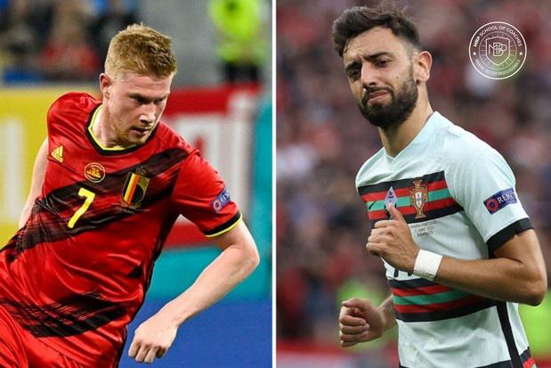 België-Portugal: een duel tussen Kevin De Bruyne en Bruno Fernandes (video)