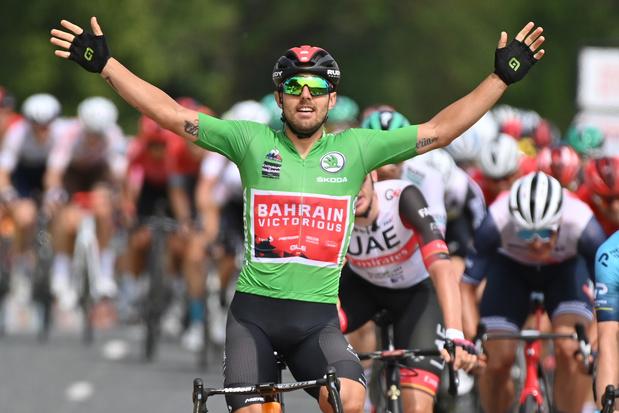 Dauphiné: Sonny Colbrelli wint derde etappe, Pöstlberger blijft nipt leider
