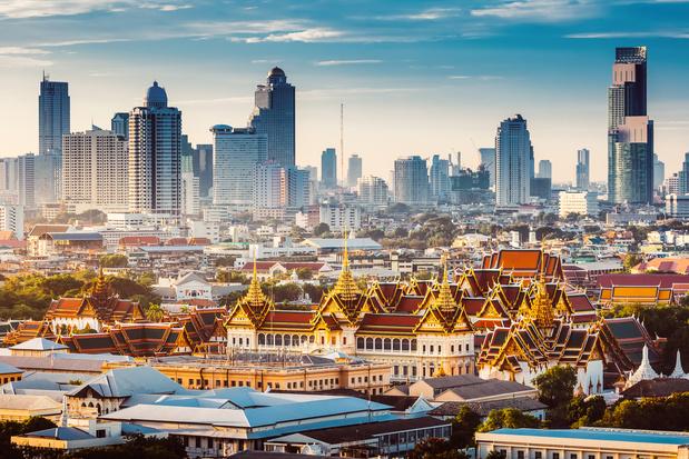 De koninklijke kant van Bangkok