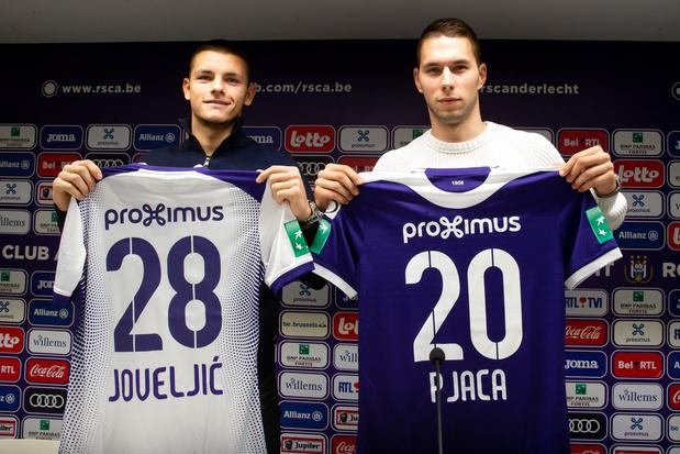 """Pjaca et Joveljic présentés: """"Anderlecht est le plus grand et le meilleur club en Belgique"""""""