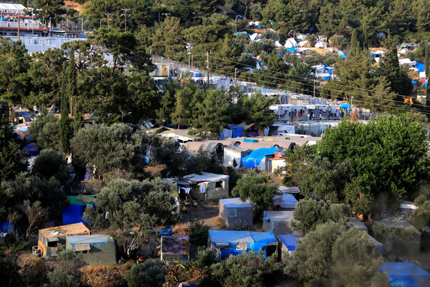 Opnieuw brand in Grieks vluchtelingenkamp, vuur is 'onder controle'