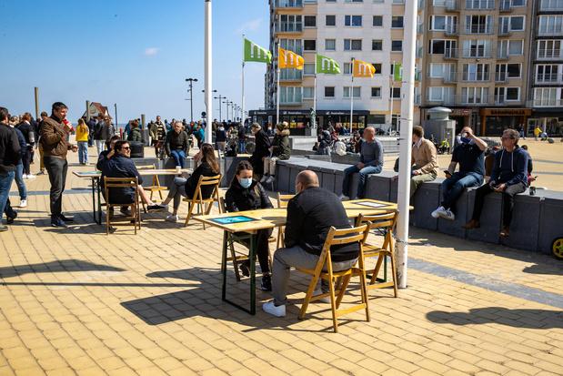 Middelkerke rouvre ses terrasses (photos)