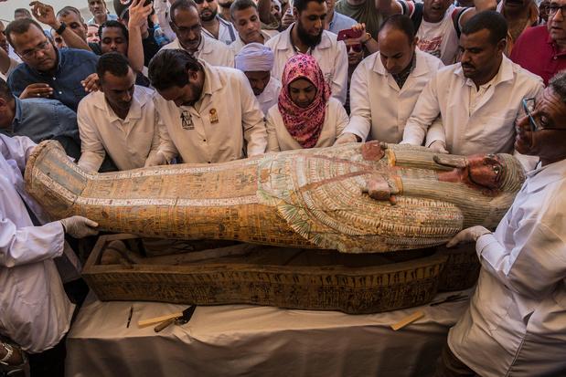 A Louxor, trente sarcophages de plus de 3.000 ans ont été dévoilés