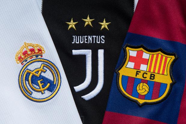Super League: UEFA start disciplinair onderzoek tegen Real, Barça en Juve