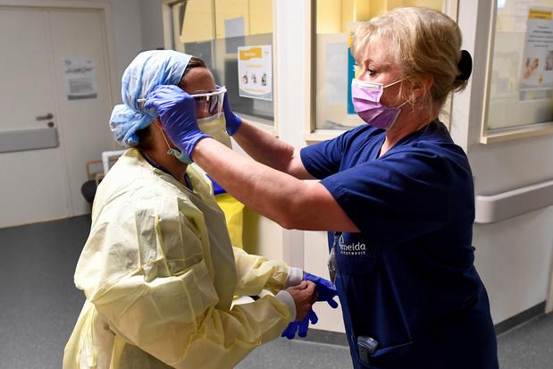 Voor de eerste keer minder covid-19-patiënten in het ziekenhuis