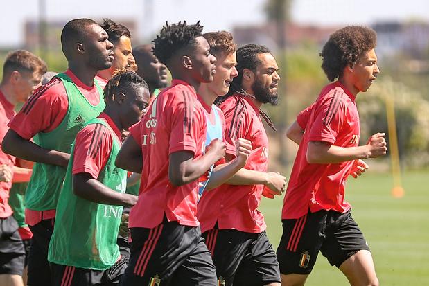 Diables rouges: Eden Hazard ne s'entraîne pas, Axel Witsel bien présent