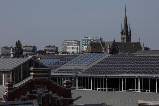 Inauguration du toit solaire de la gare maritime de Tour&Taxis en rénovation