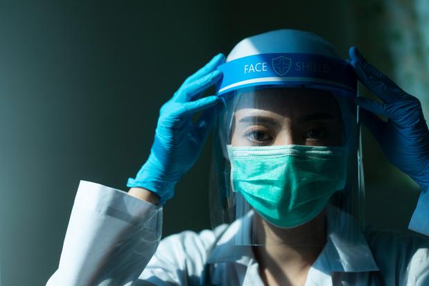 Beschermingsmateriaal beschadigt de huid