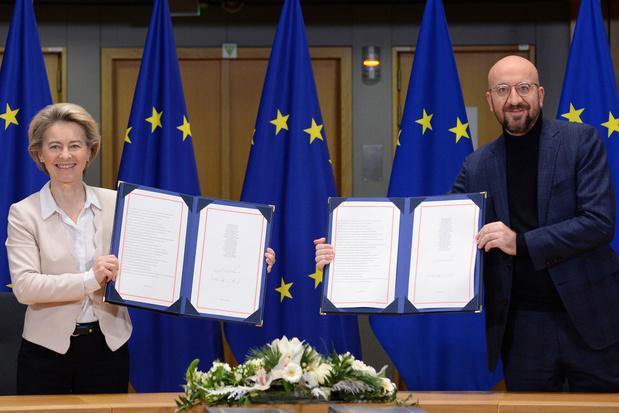 EU-leiders tekenen brexit-handelsakkoord