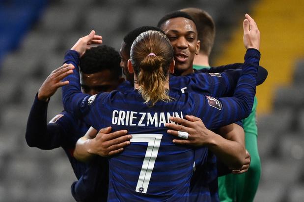 Mondial 2022: la France s'impose au Kazakhstan et signe sa première victoire