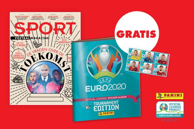 Gratis Panini-album EURO2020 bij Sport/Voetbalmagazine