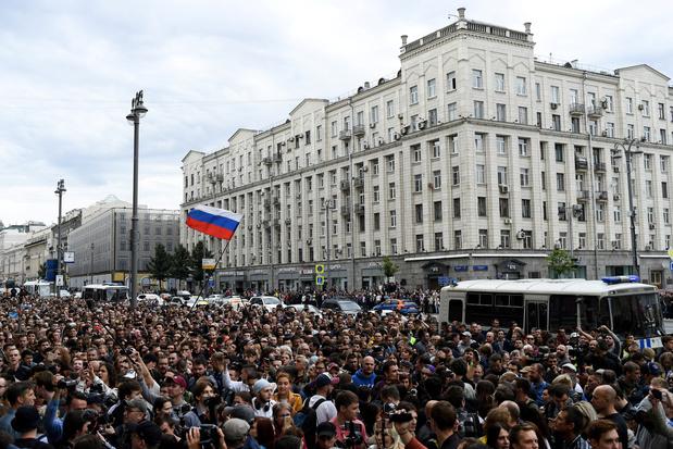 """Des opposants arrêtés lors d'une manifestation pour des """"élections justes"""" à Moscou"""