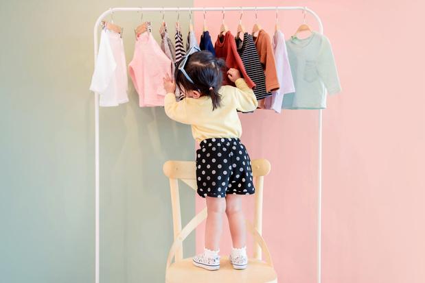 Interesse in nieuwe kinder- en babykleding neemt af