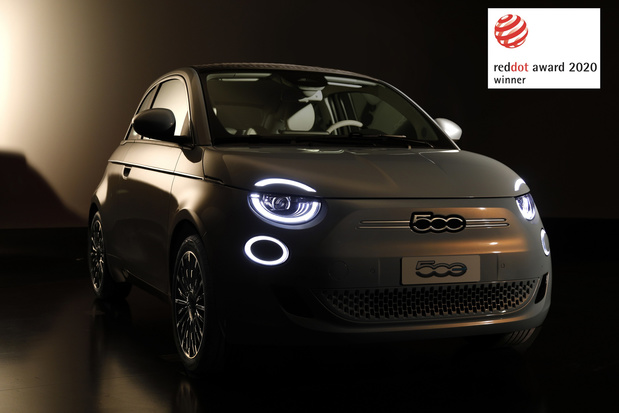 "La nouvelle Fiat 500 remporte le prix ""Red Dot Award 2020"""