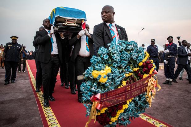Tienduizenden Congolezen bij begrafenis Tshisekedi, Reynders brengt hulde aan voormalig premier