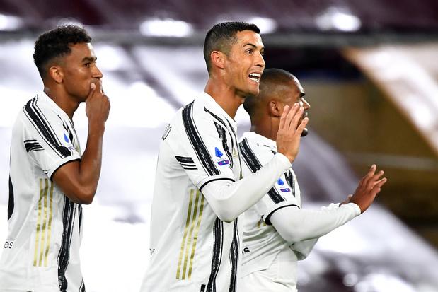 Ronaldo sauve la Juventus face à une belle Roma