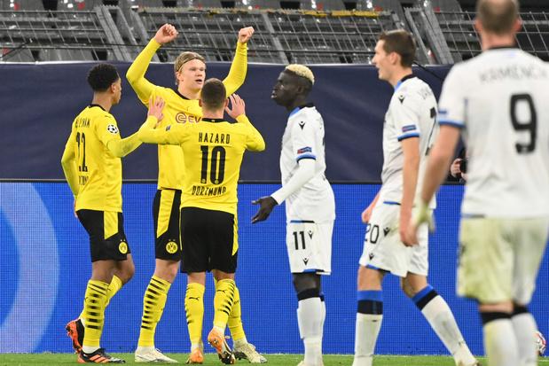 Le Club de Bruges impuissant au Borussia Dortmund (3-0)