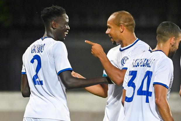 Conference League: KAA Gent pas in slotfase voorbij Rigas, Anderlecht zonder moeite voorbij Laçi