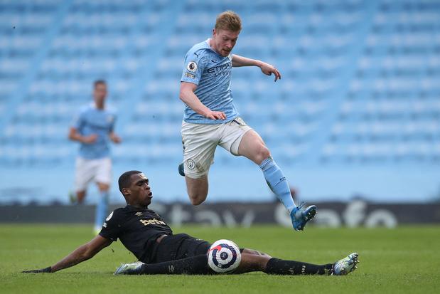 De Bruyne à l'assit pour la 20e victoire consécutive de Manchester City