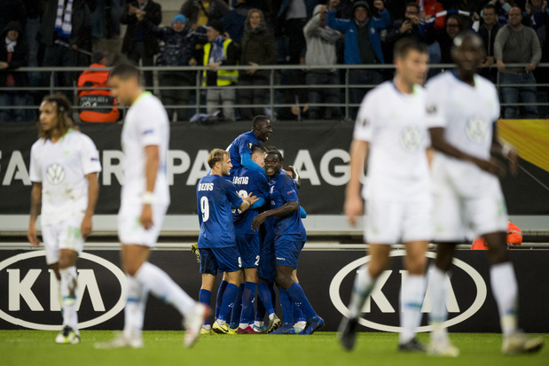 AA Gent pakt in extremis punt tegen Wolfsburg in Europa League