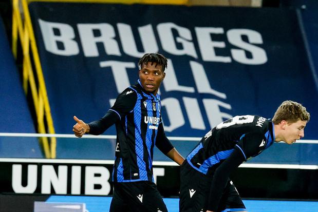 Club Brugge voorlopig aan de leiding na moeizame zege tegen STVV