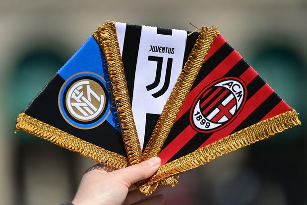 Italiaanse voetbalbond zet AC Milan, Inter en Juventus buitenspel