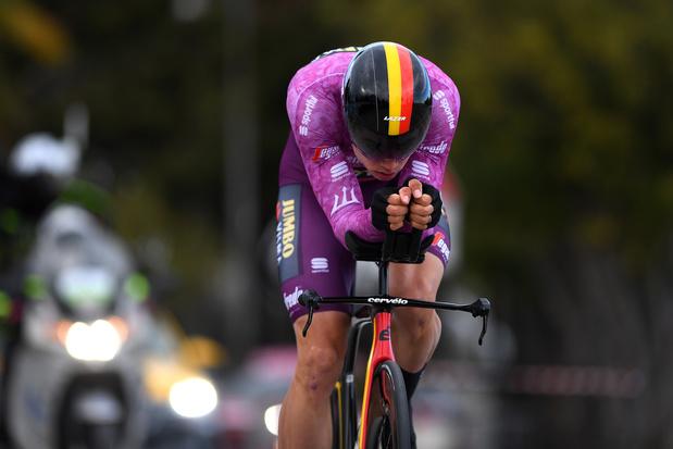 En daar is nummer twee: Van Aert beste in afsluitende tijdrit Tirreno-Adriatico, Pogacar eindwinaar