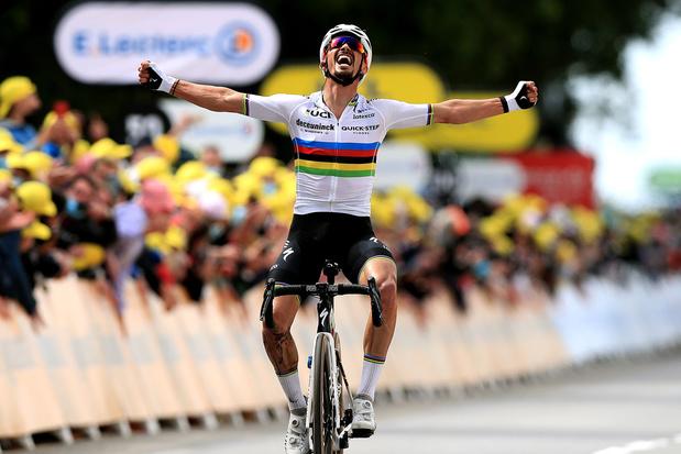 Julian Alaphillipe maakt indruk in eerste rit Tour de France