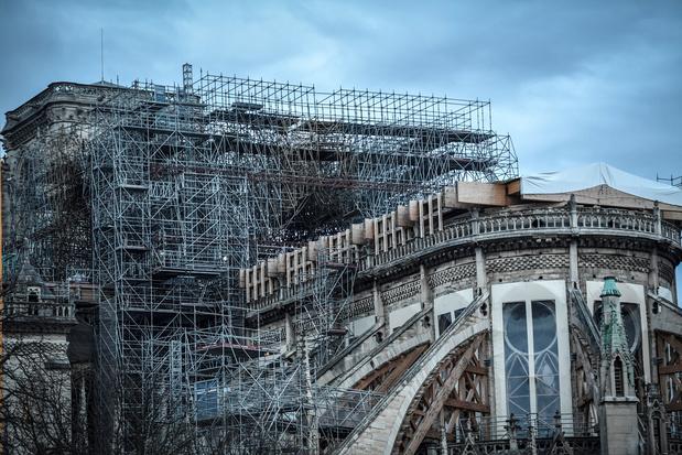 Notre-Dame de Paris : début des opérations de démontage de l'échafaudage