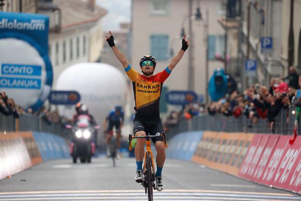 Sloveen Tratnik verovert winst in 16e rit Giro, Almeida blijft aan kop