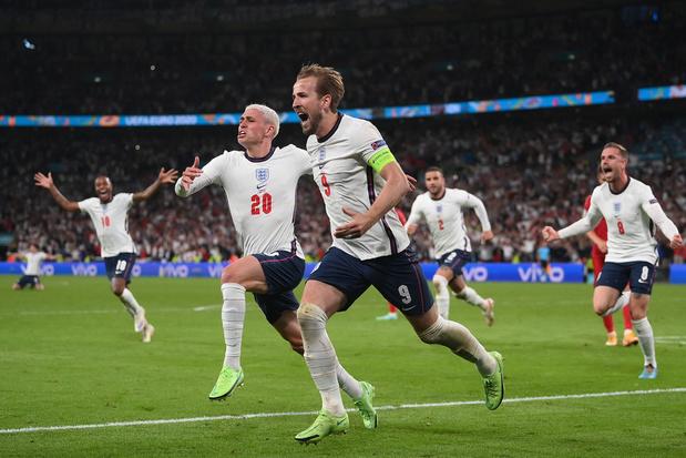 Engeland klaart de klus in de verlengingen tegen Denemarken