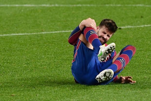FC Barcelone: Piqué touché au genou à une semaine du match de C1 au PSG
